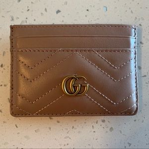 Gucci Dusty Pink GG Marmont Card Case